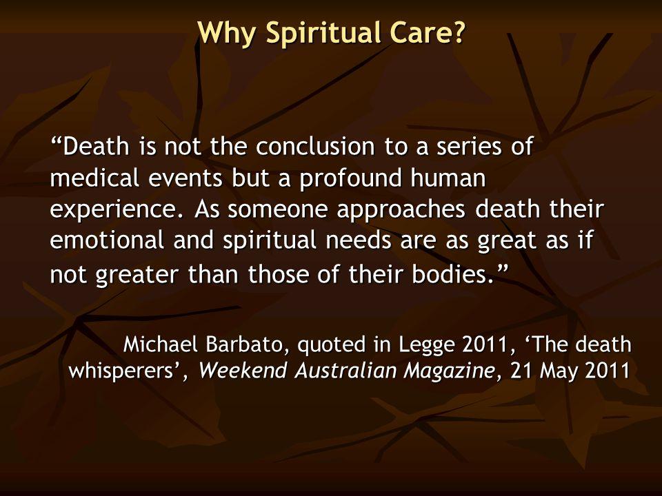 Why Spiritual Care