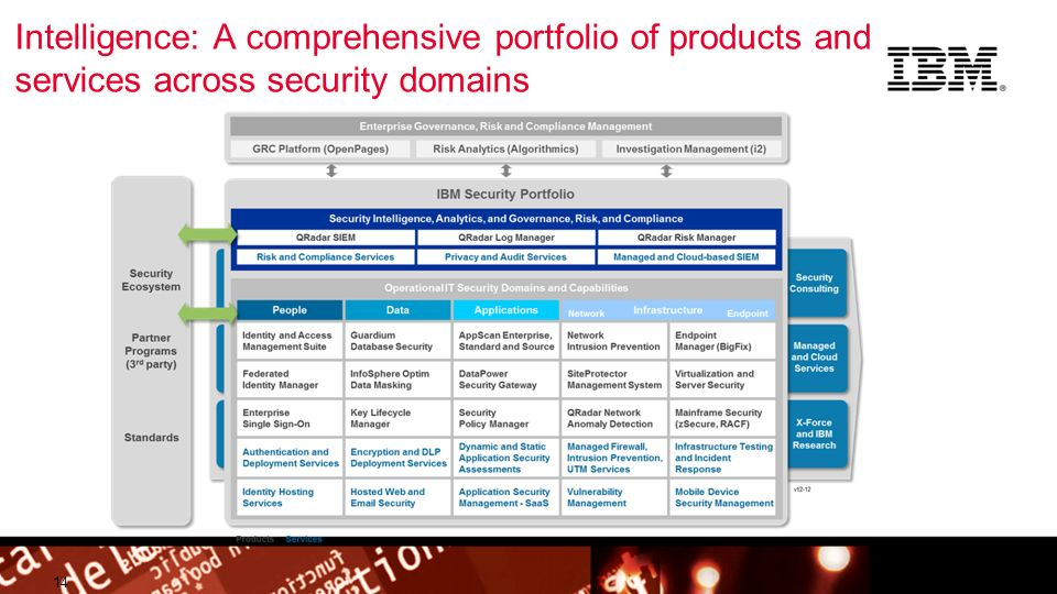 Intelligence: A comprehensive portfolio of products and services across security domains
