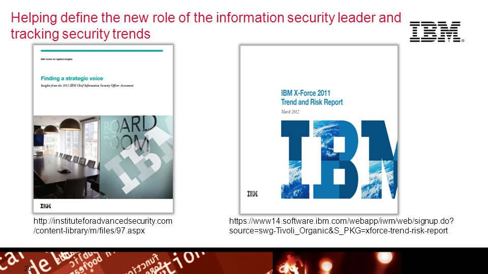 Helping define the new role of the information security leader and tracking security trends