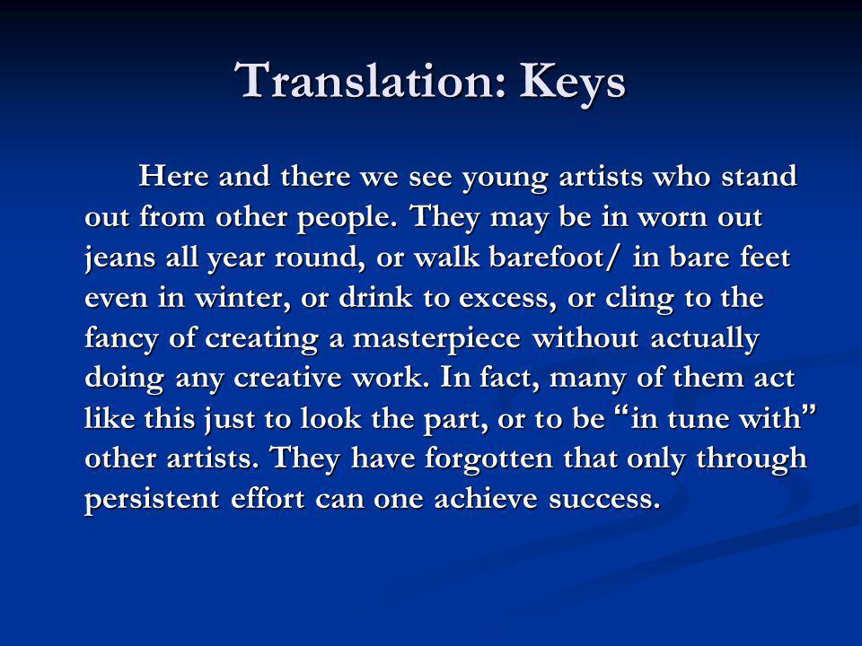 Translation: Keys