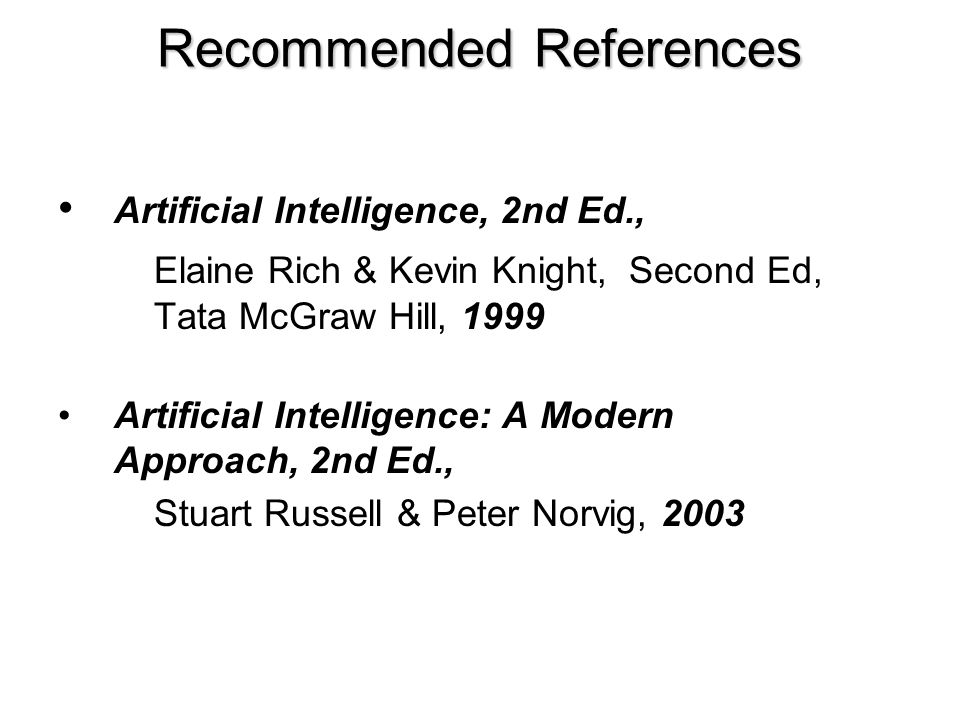 Recommended References