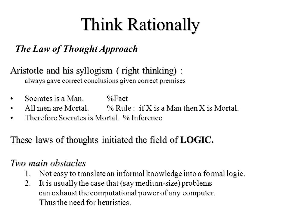 Think Rationally The Law of Thought Approach