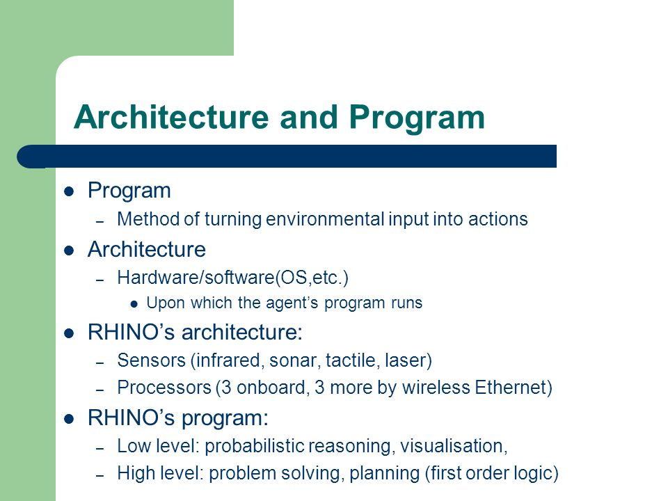 Architecture and Program