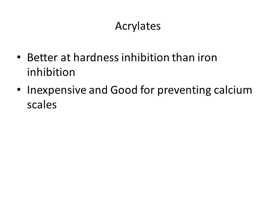 Acrylates Better at hardness inhibition than iron inhibition.