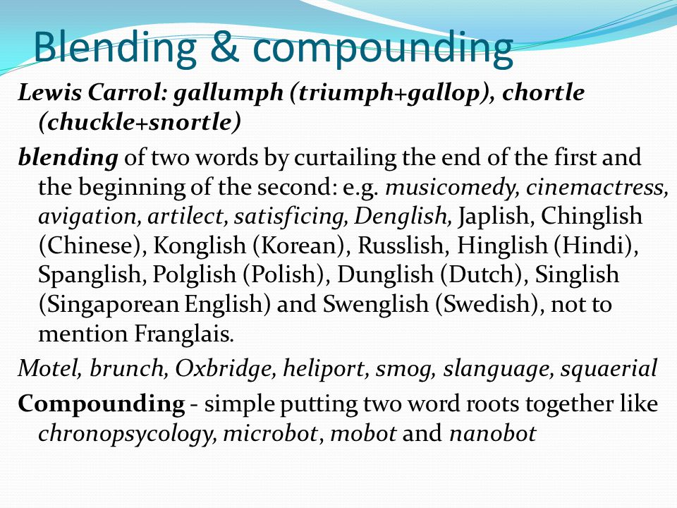 Blending & compounding