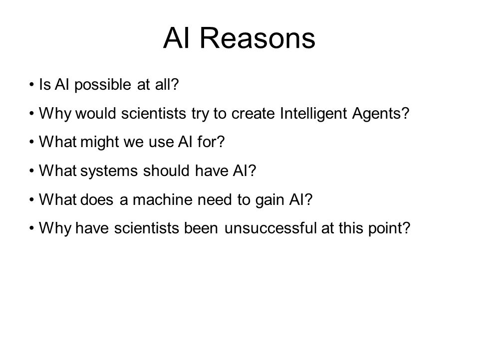 AI Reasons Is AI possible at all