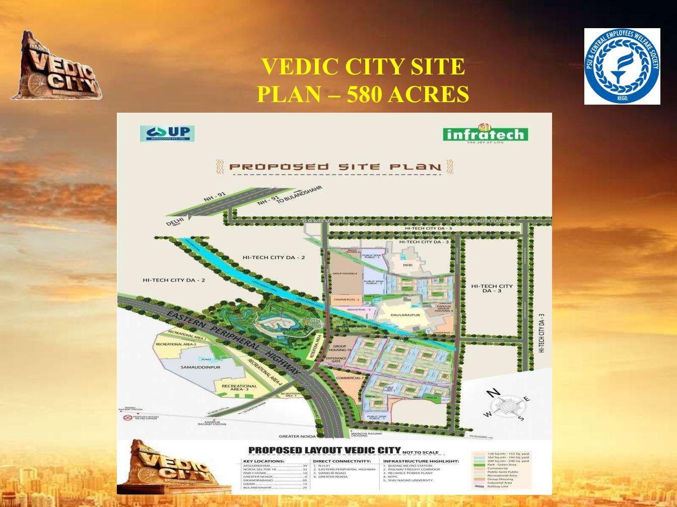 VEDIC CITY SITE PLAN – 580 ACRES