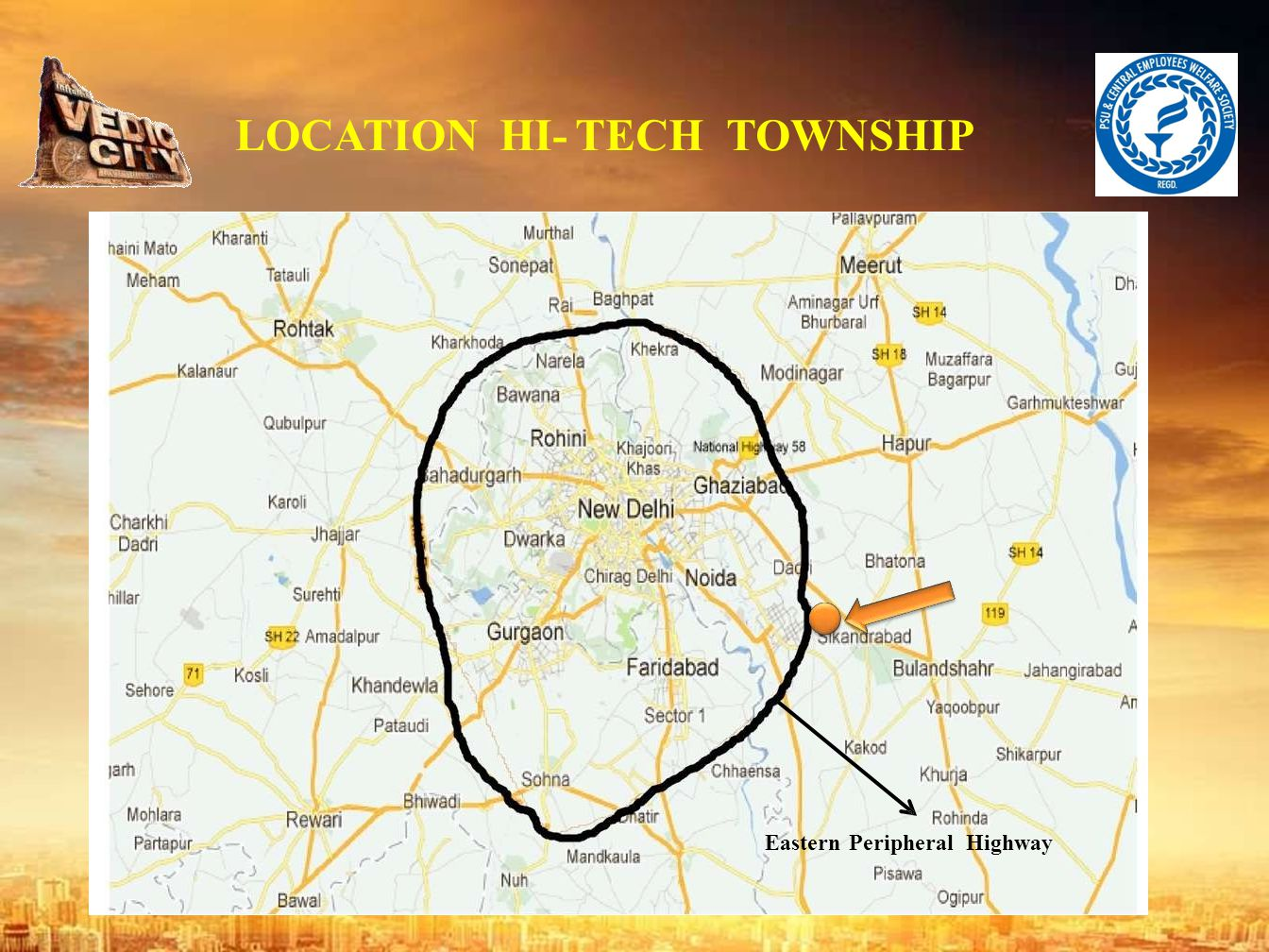 LOCATION HI- TECH TOWNSHIP Eastern Peripheral Highway