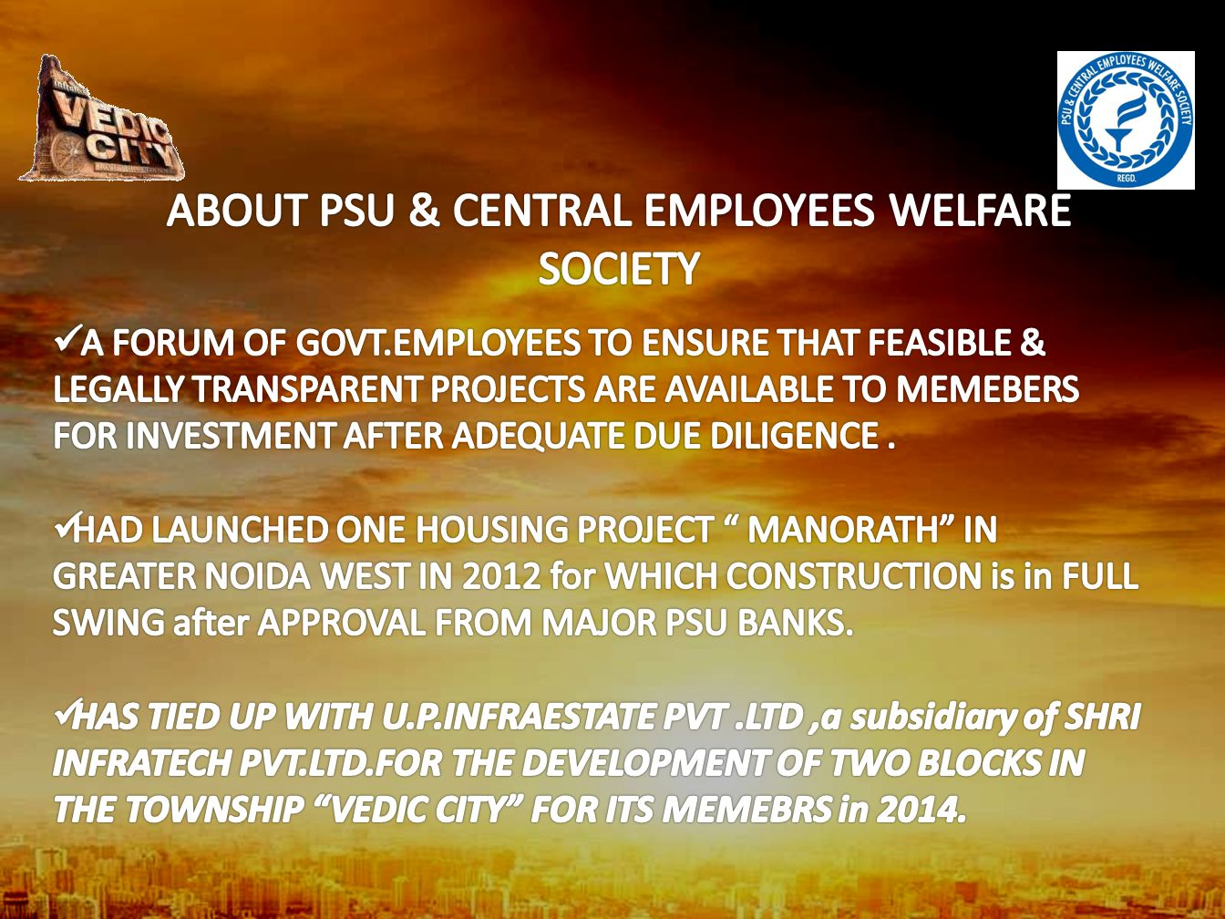ABOUT PSU & CENTRAL EMPLOYEES WELFARE SOCIETY