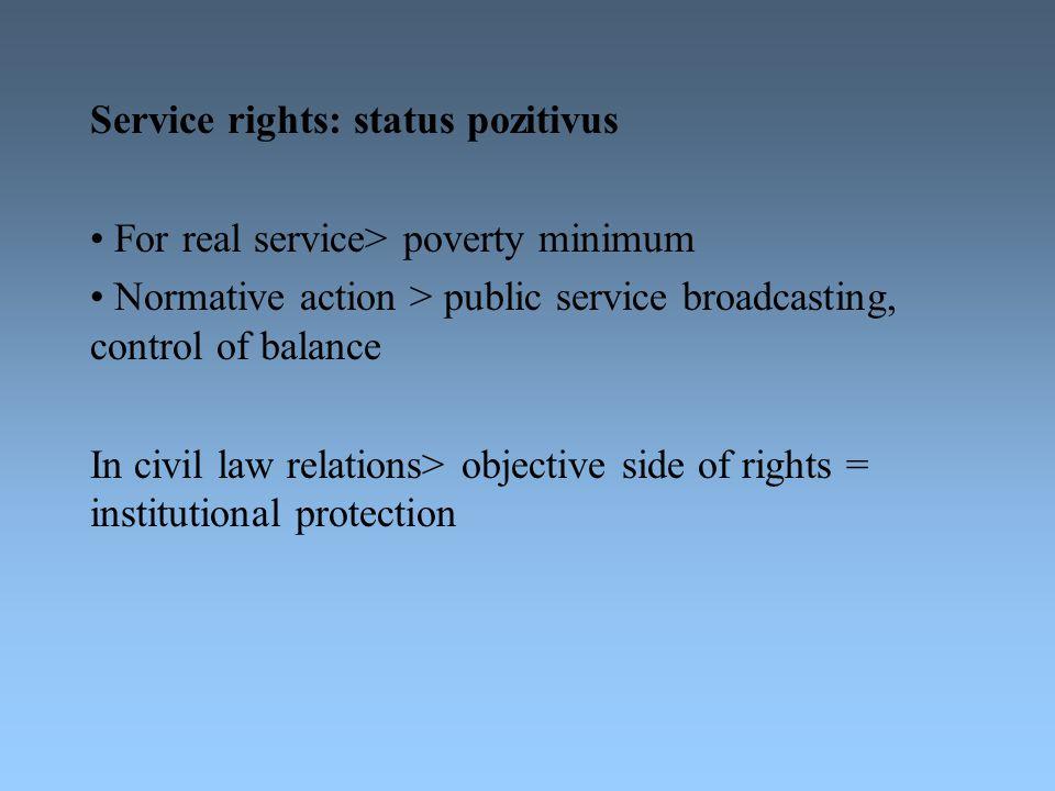 Service rights: status pozitivus