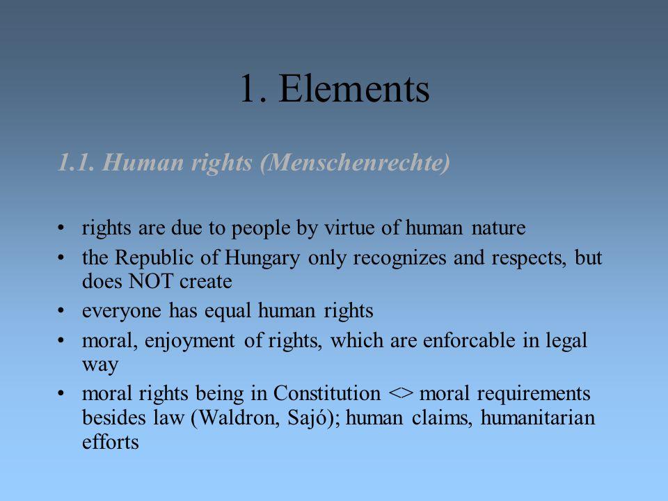 1. Elements 1.1. Human rights (Menschenrechte)