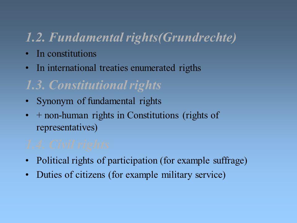 1.2. Fundamental rights(Grundrechte)