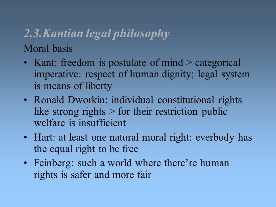 2.3.Kantian legal philosophy