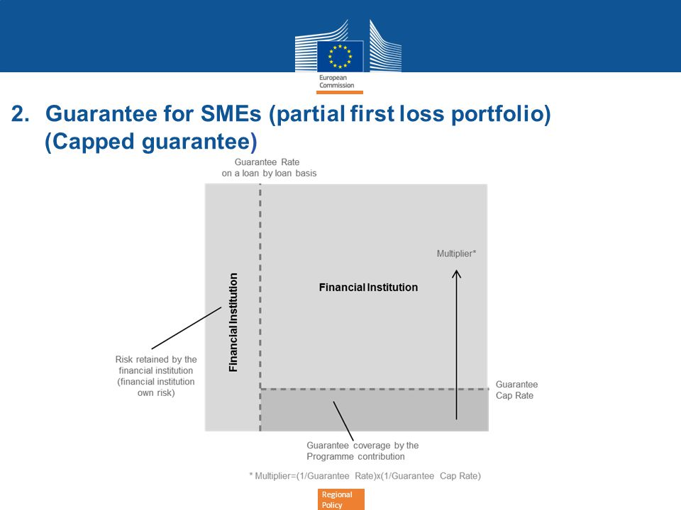 Guarantee for SMEs (partial first loss portfolio)