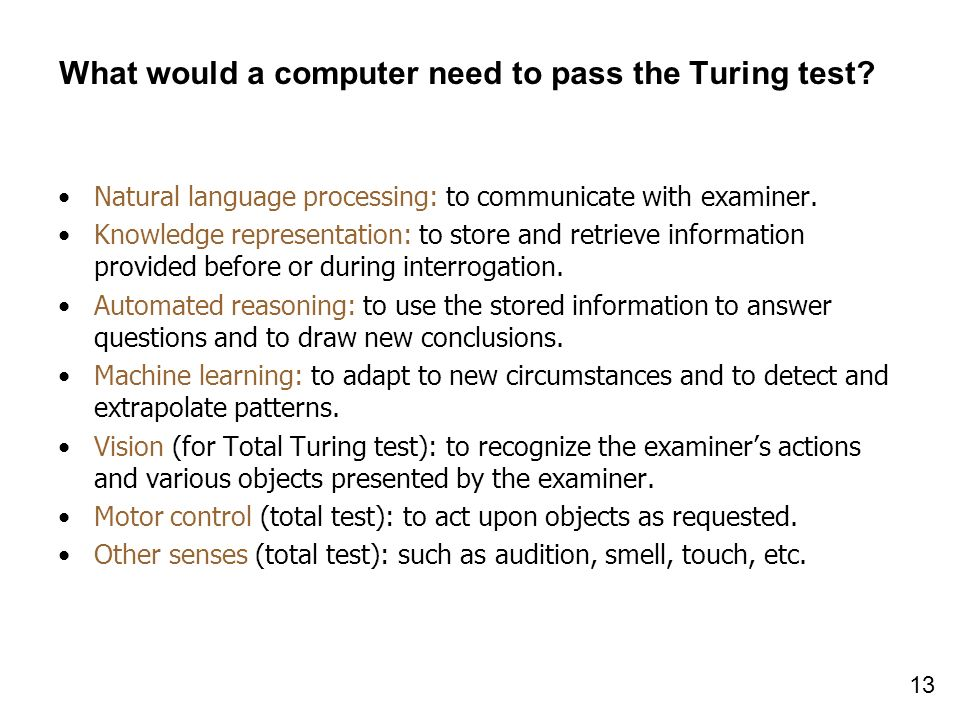 What would a computer need to pass the Turing test