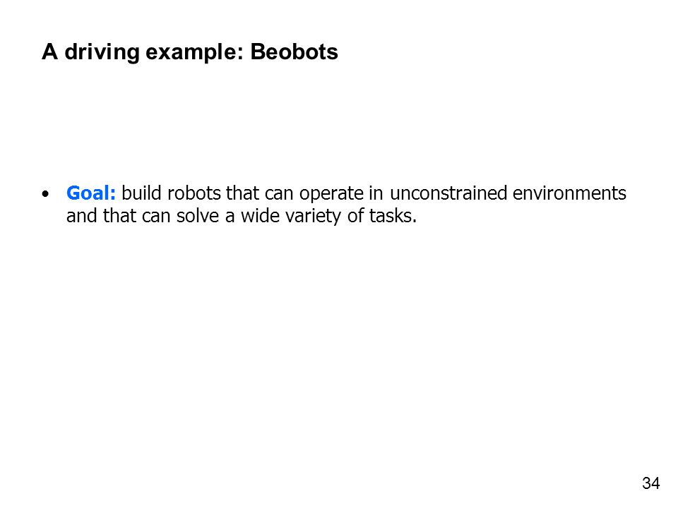 A driving example: Beobots