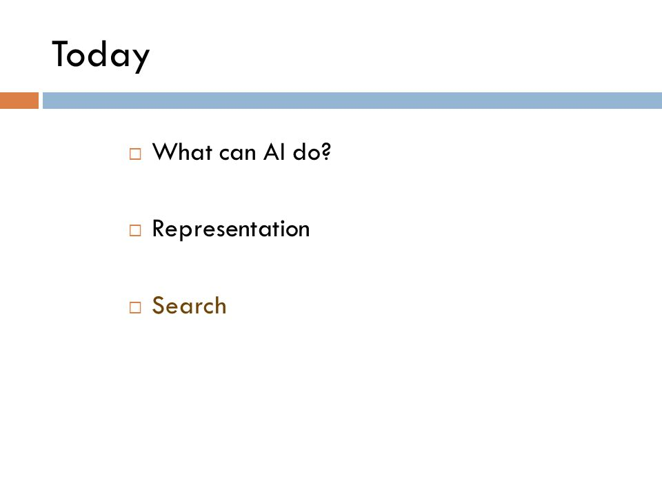 Today What can AI do Representation Search