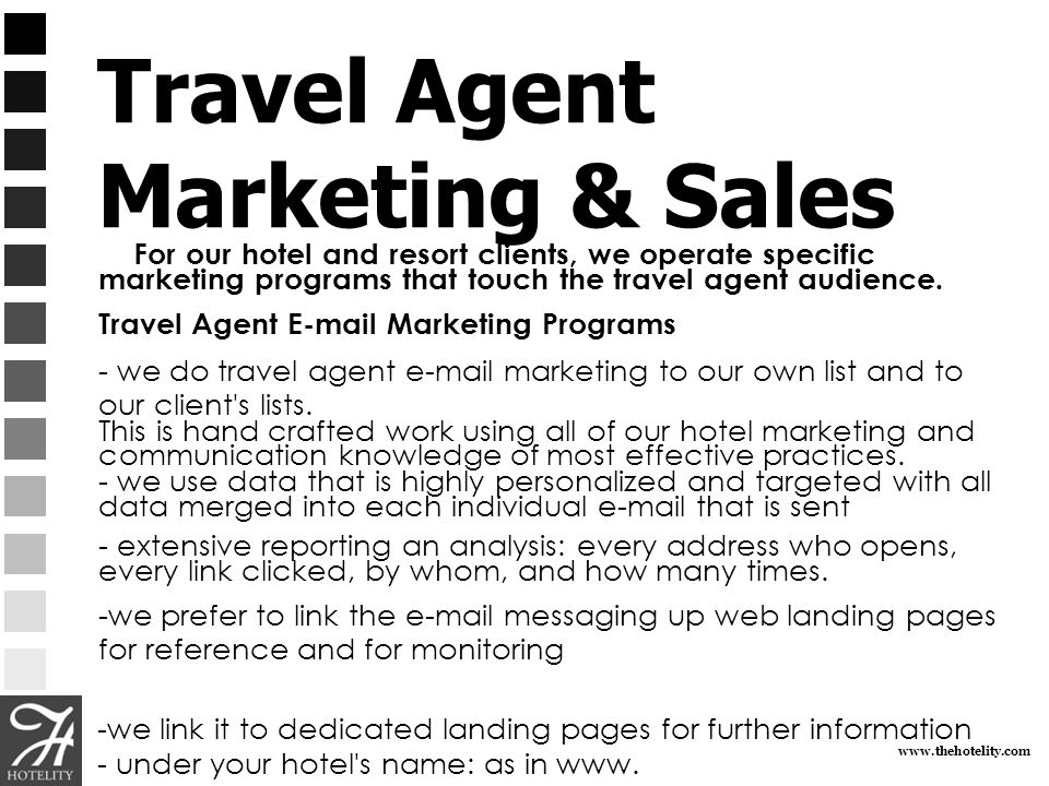Travel Agent Marketing & Sales