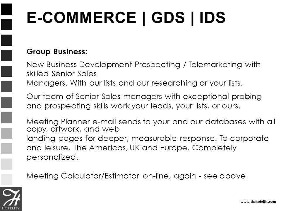 E-COMMERCE | GDS | IDSGroup