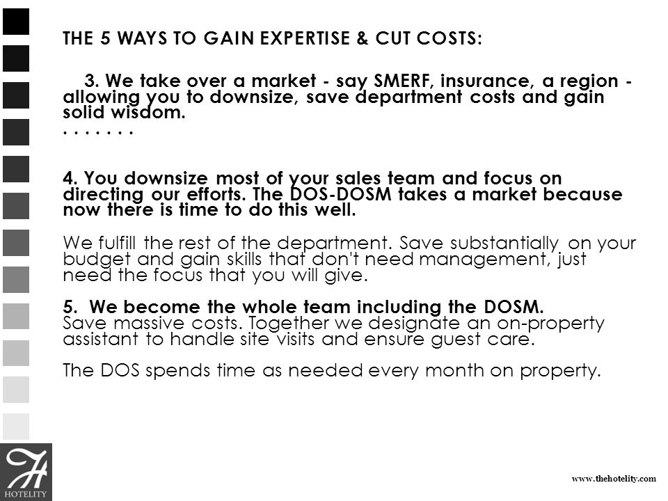 THE 5 WAYS TO GAIN EXPERTISE & CUT COSTS: