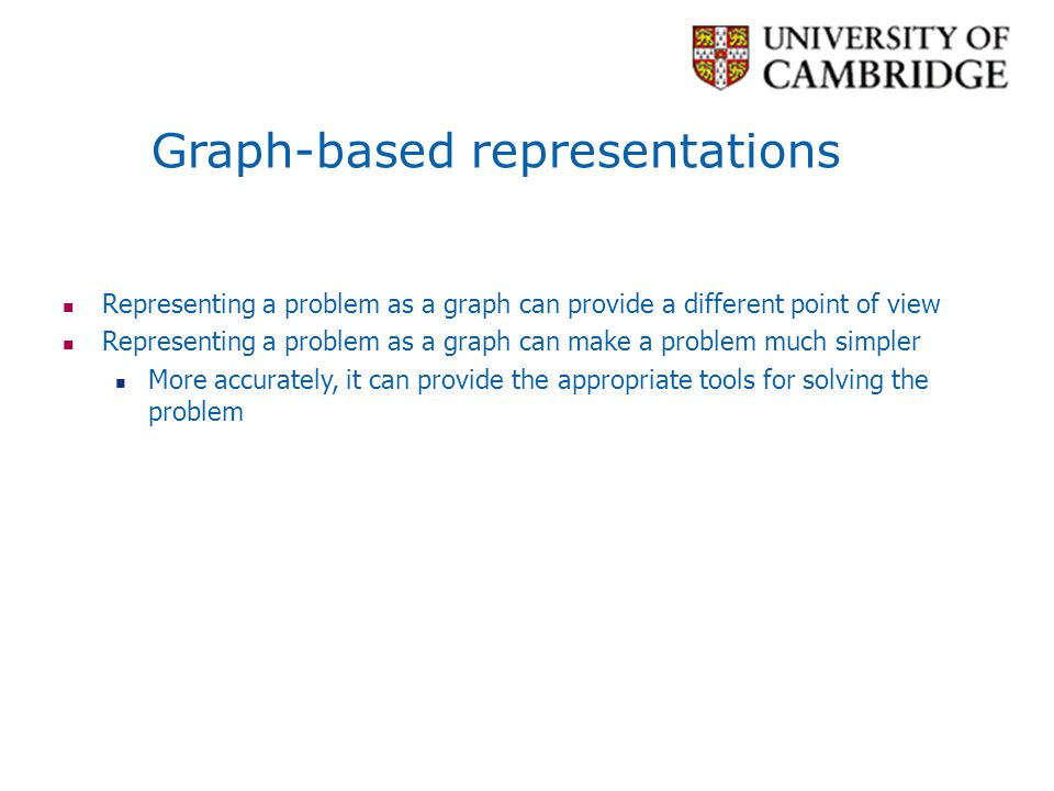 Graph-based representations