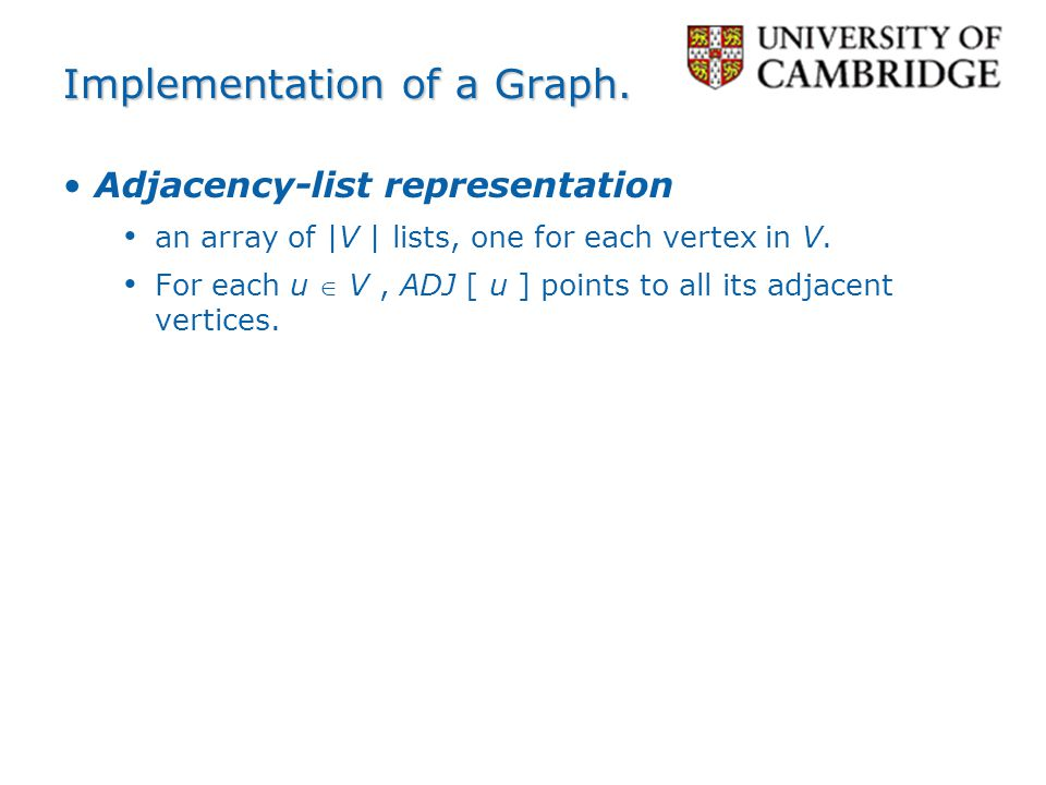 Implementation of a Graph.