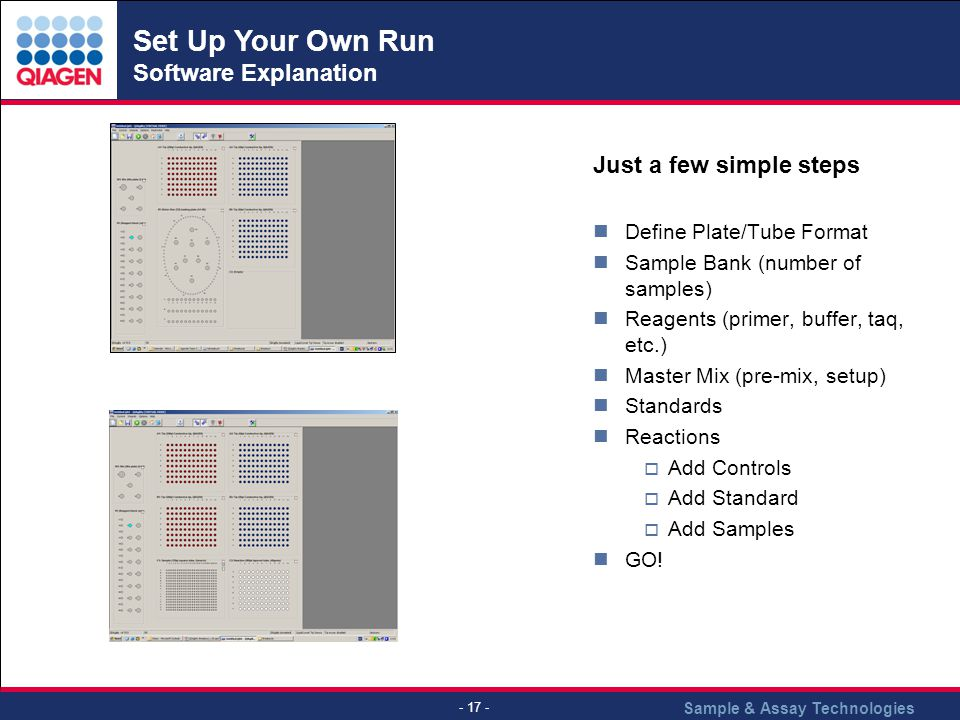 Set Up Your Own Run Software Explanation