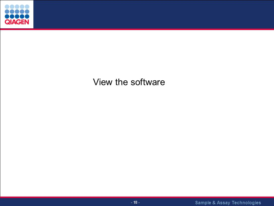 View the software