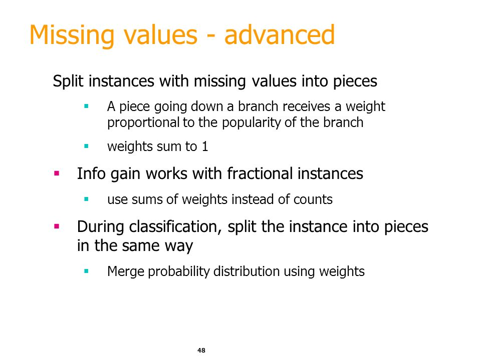 Missing values - advanced