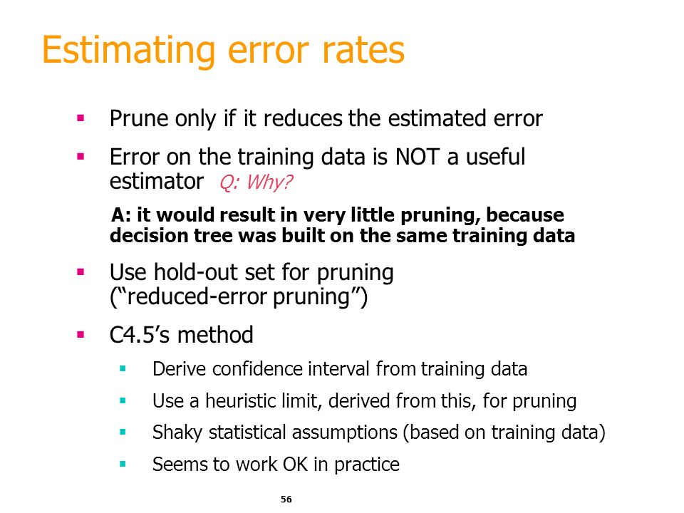 Estimating error rates