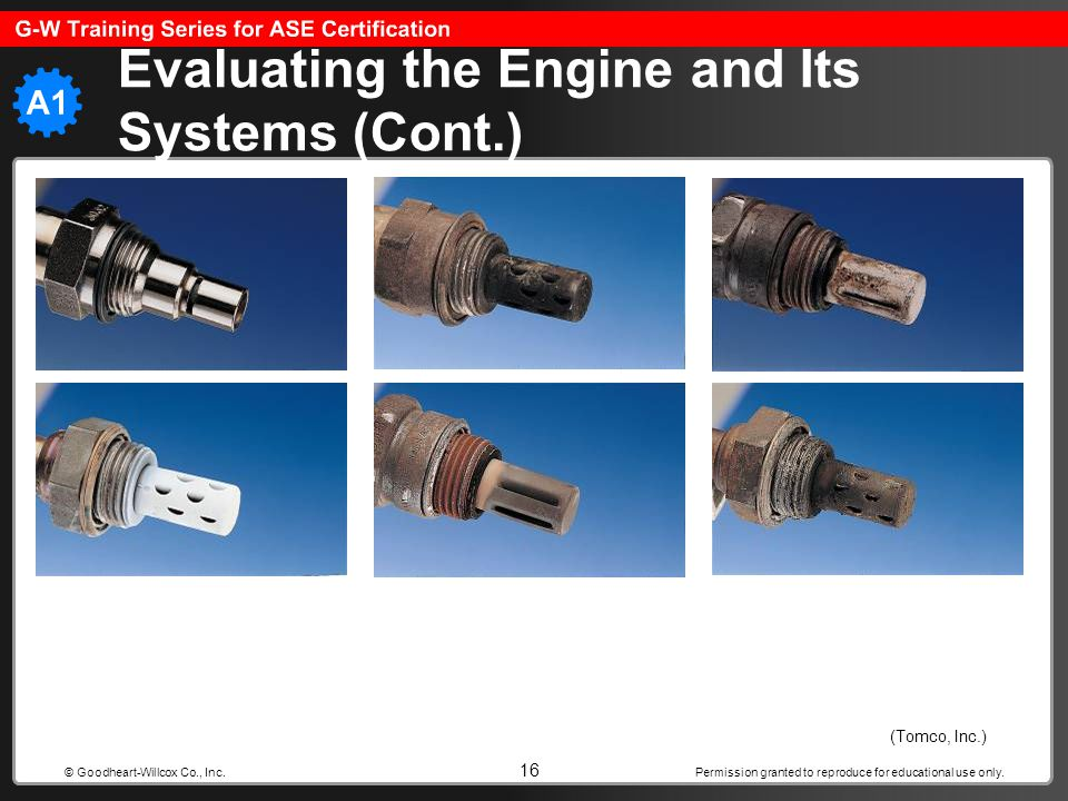 Evaluating the Engine and Its Systems (Cont.)