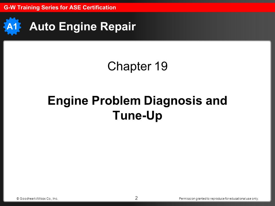 Engine Problem Diagnosis and Tune-Up