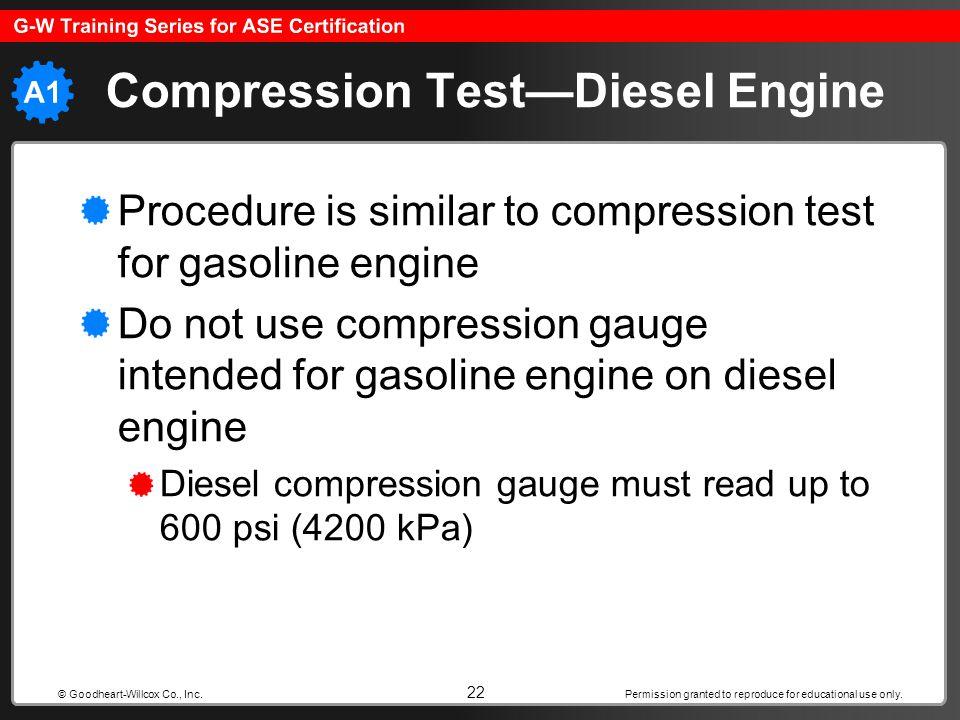 Compression Test—Diesel Engine