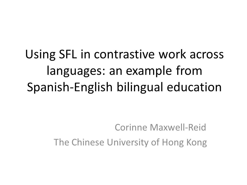 Corinne Maxwell-Reid The Chinese University of Hong Kong