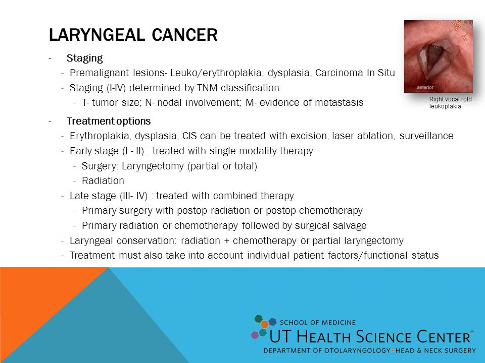 Laryngeal Cancer Staging