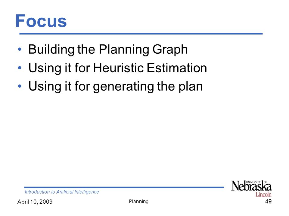 Focus Building the Planning Graph Using it for Heuristic Estimation