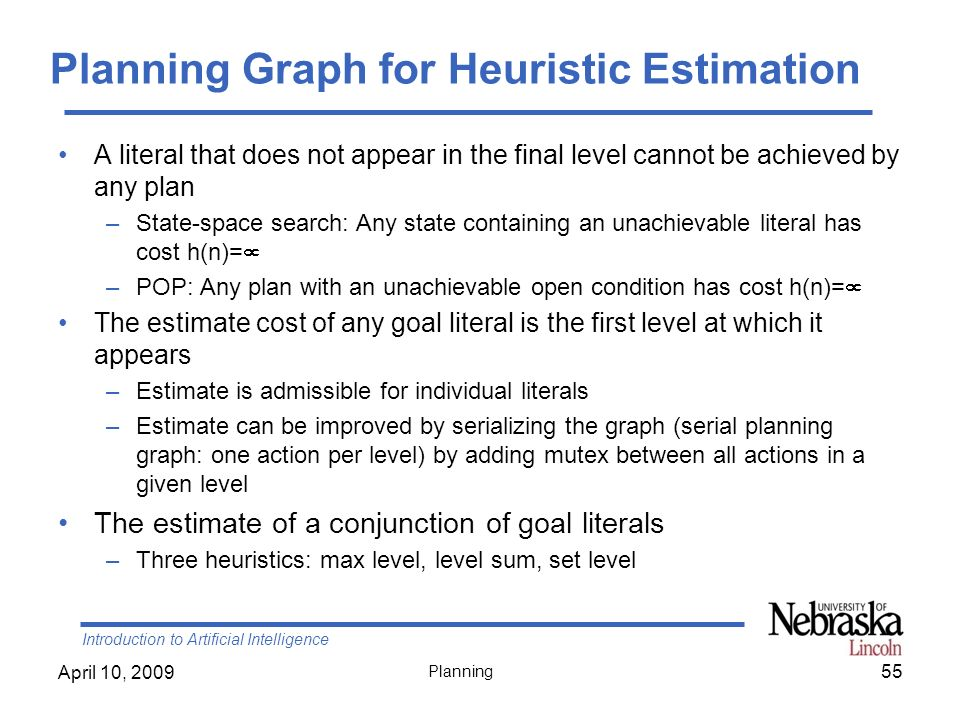 Planning Graph for Heuristic Estimation
