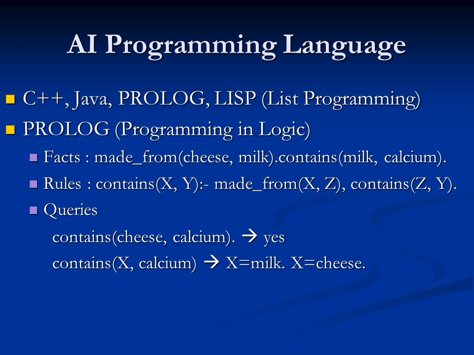 AI Programming Language