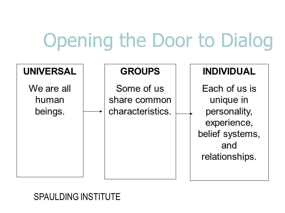 Opening the Door to Dialog