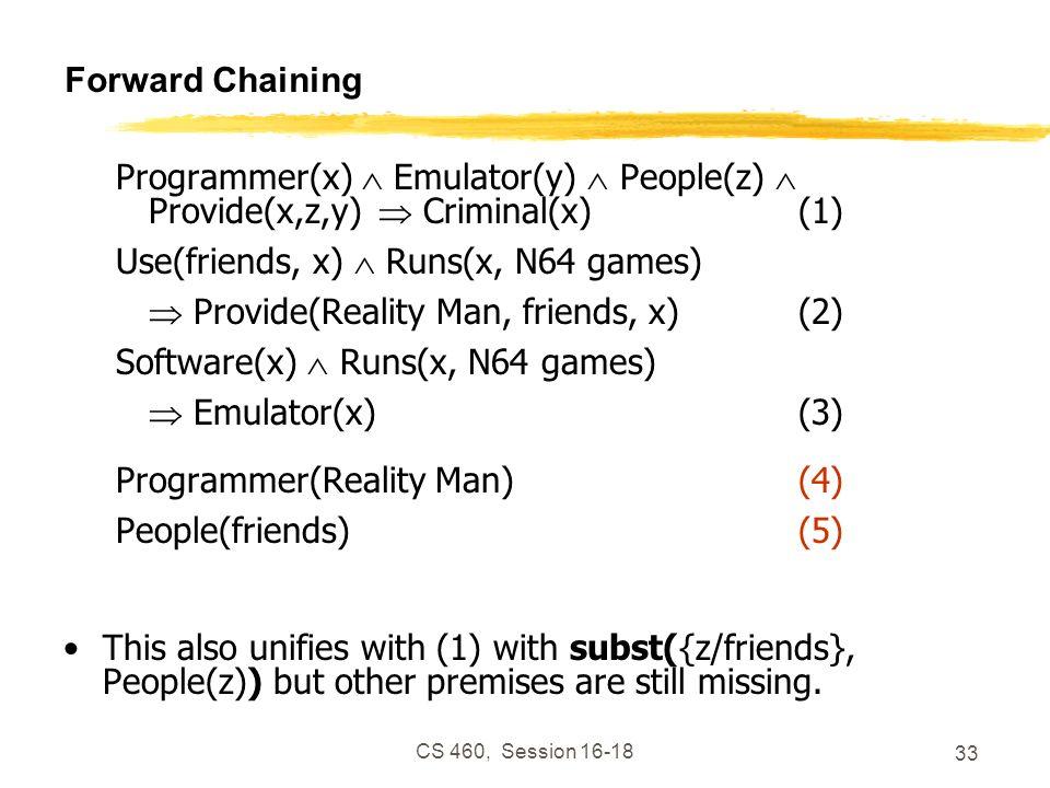 Use(friends, x)  Runs(x, N64 games)