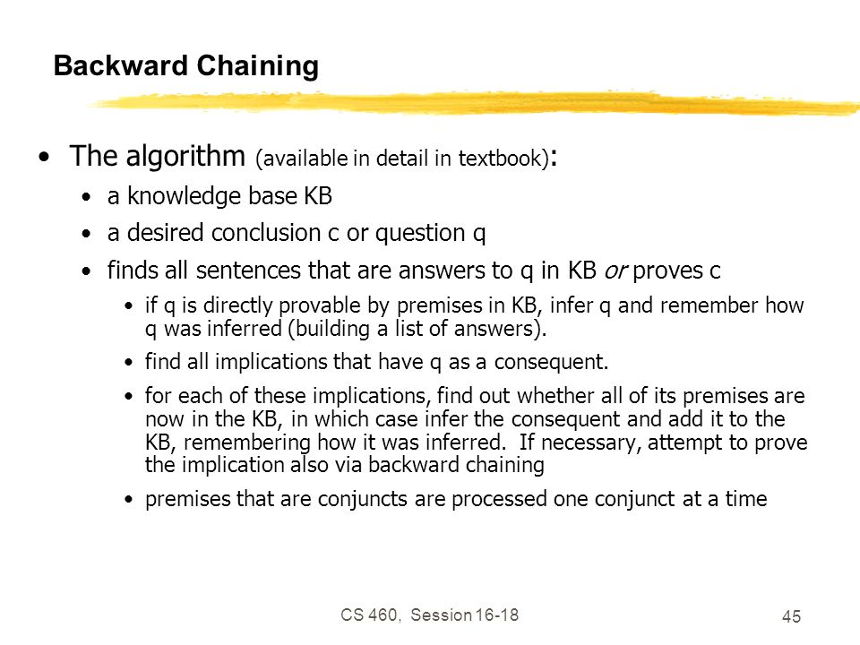 The algorithm (available in detail in textbook):