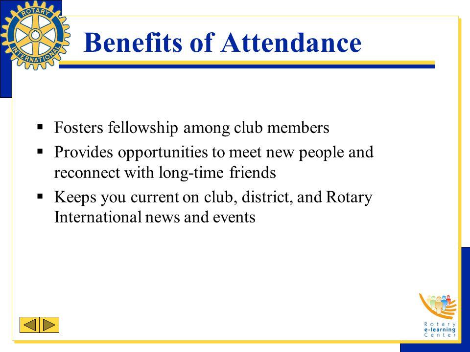 Benefits of Attendance