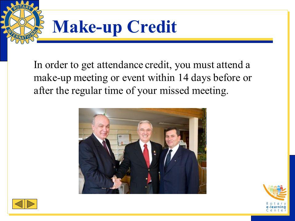 Make-up Credit