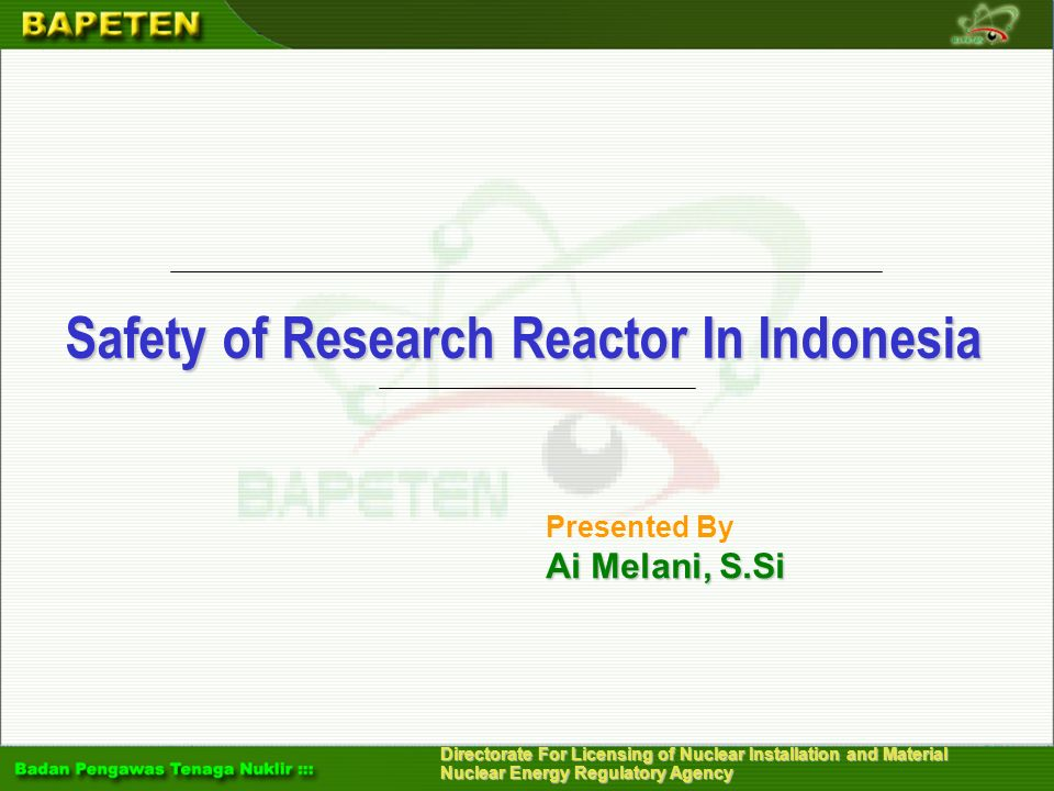 Safety of Research Reactor In Indonesia