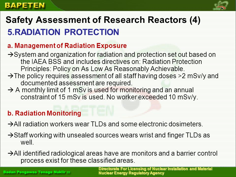Safety Assessment of Research Reactors (4)
