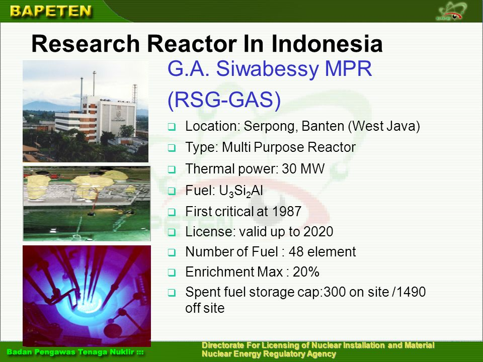 Research Reactor In Indonesia
