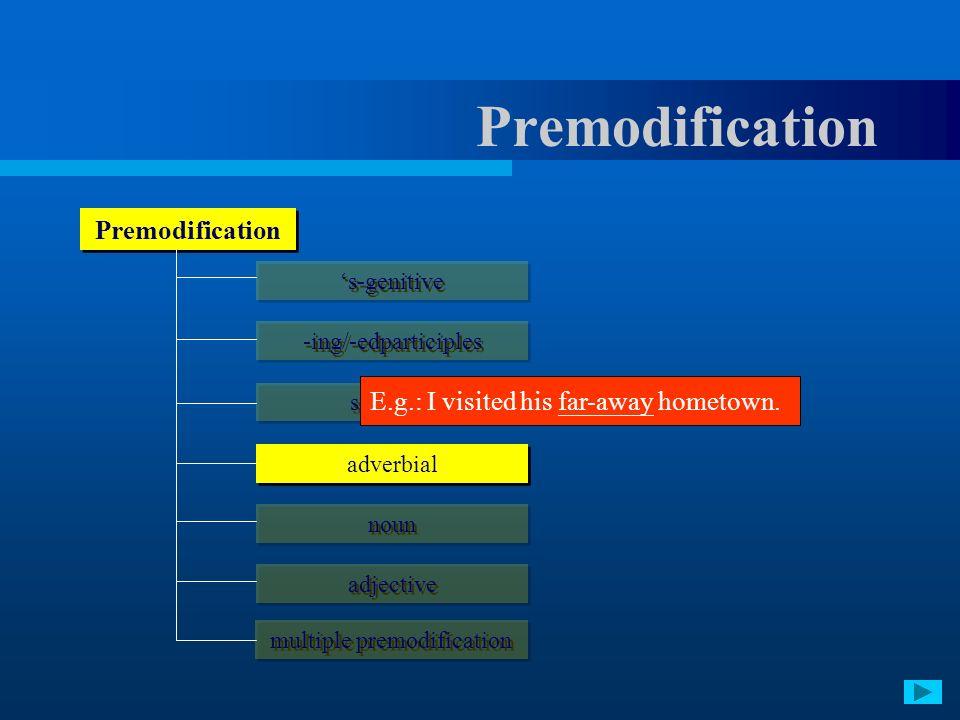 multiple premodification