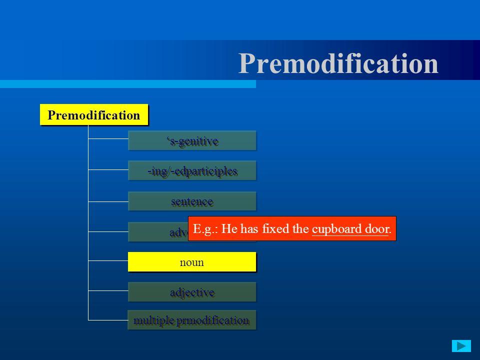 multiple prmodification