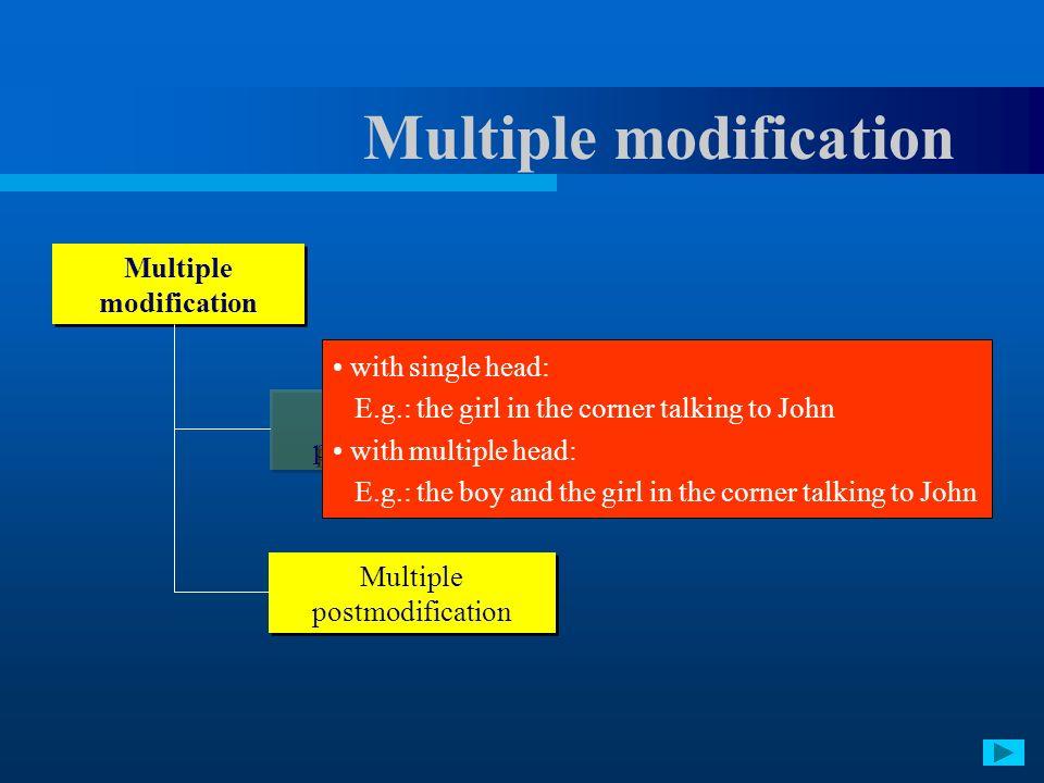 Multiple modification