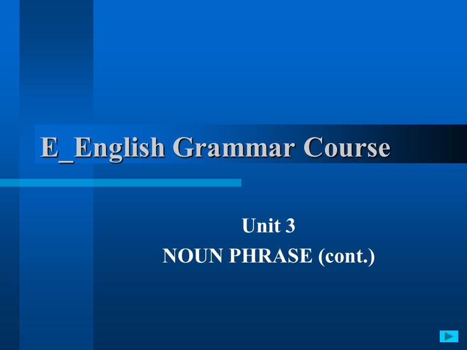 E_English Grammar Course